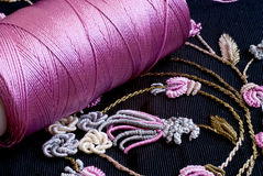 Colorful Embroidery Stock Image