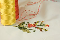 Colorful Embroidery Stock Images