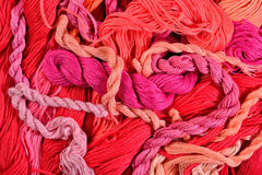 Colorful embroidery floss as background texture Royalty Free Stock Photo