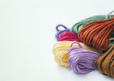 Colorful embroidery floss Royalty Free Stock Photography