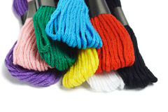 Colorful embroidery threads Stock Images