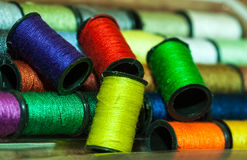 Colorful embroidery threads Royalty Free Stock Photography