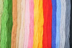 Colorful embroidery threads. Royalty Free Stock Photography