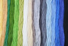 Colorful embroidery threads. Stock Photography