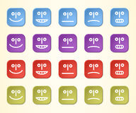 Colorful emoticons Stock Photography