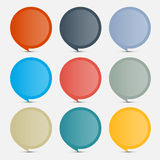 Colorful Empty Circle Stickers - Labels Set Stock Image