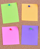 Colorful empty four notes Royalty Free Stock Image