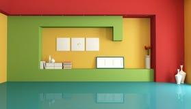 Colorful empty interior stock image