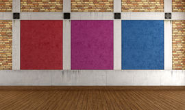 Colorful empty loft Stock Images