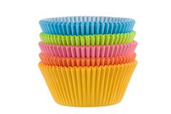 Colorful empty muffin cups Royalty Free Stock Photo