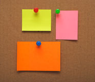 Colorful empty notes Royalty Free Stock Photos