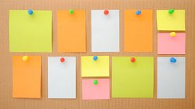 Colorful empty notes Royalty Free Stock Photo