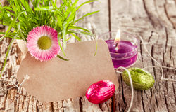 Colorful empty spring sign Stock Image