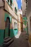 Colorful empty street fragment. Medina, Tangier Royalty Free Stock Photo