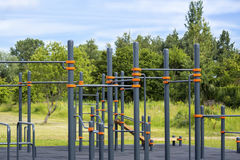 Colorful empty teens playground Royalty Free Stock Photos