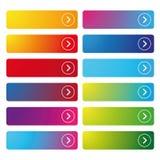 Colorful empty web button set Stock Images