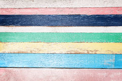 Colorful Empty Wooden Plank Background Stock Photo