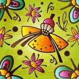 Colorful Enchanted Vintage Flowers seamless pattern vector. Magic forest wonderland background.  vector illustration