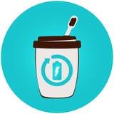 Energy drink business template. Flat vector logo vector illustration
