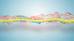 Colorful energy wave abstract background Royalty Free Stock Image