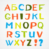 Colorful English alphabet Stock Image