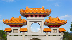 Colorful entrance gates of the Da Fo Buddhist Temple. Taiwan Royalty Free Stock Image