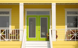 Colorful entrance to a Pensacola Florida home stock images