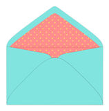 Colorful envelope, vintage style Stock Photos