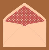 Colorful envelope, vintage style Stock Images