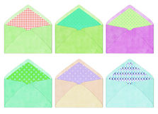 Colorful envelope, vintage style Royalty Free Stock Image