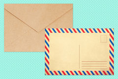 Colorful envelope, vintage style, trend, style Royalty Free Stock Photo