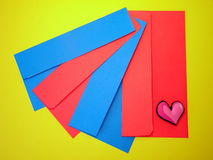 Colorful envelopes stock image