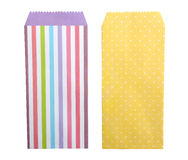 Colorful envelopes on white background, clipping path included. Royalty Free Stock Images