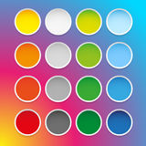 Colorful epty round sticker set Royalty Free Stock Photography