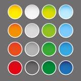 Colorful epty round sticker set Stock Photos
