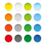Colorful epty round sticker set Stock Images