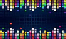 Colorful equalizer Royalty Free Stock Image