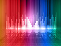 Colorful equalizer background Stock Image