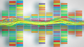 Colorful equalizer party background Royalty Free Stock Photos