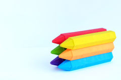 Colorful eraser. In white background Stock Image
