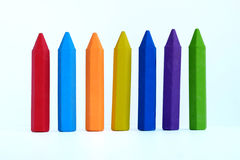 Colorful eraser. In white background Royalty Free Stock Photos