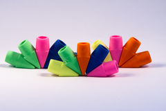Colorful Erasers Stock Photo