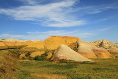 Colorful Eroded Hills of the Badlands Royalty Free Stock Photos