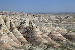Colorful Eroded Landscape of the Badlands of South Dakota Royalty Free Stock Photography