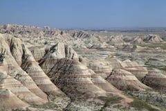 Colorful Eroded Landscape of the Badlands of South Dakota Royalty Free Stock Photography