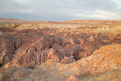 Colorful eroding land Stock Photos