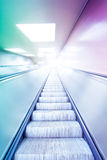Colorful escalator  Royalty Free Stock Photos