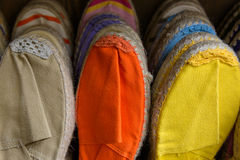Colorful espadrilles Royalty Free Stock Image