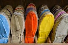 Colorful espadrilles Stock Photos