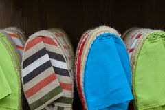 Colorful espadrilles Royalty Free Stock Images